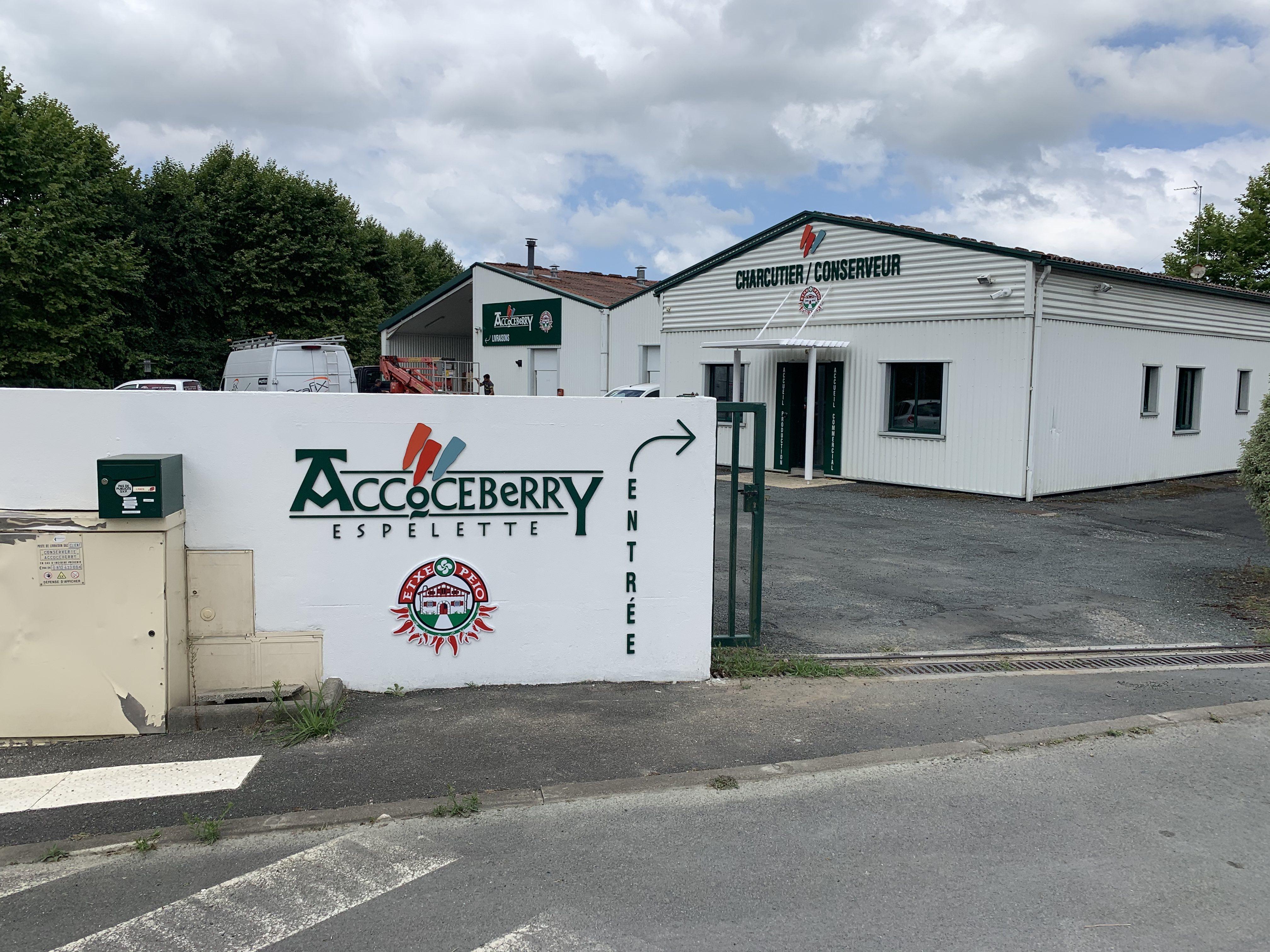 Entrée site Accoceberry Espelette